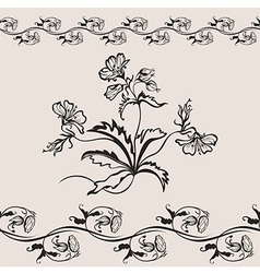 flower floral seamless banner vector image