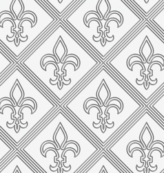 Perforated double countered fleur-de-lis vector
