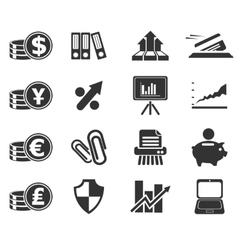Business and finance web icons vector