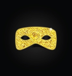 Magic gold mask vector