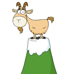 Goat atop a mountain vector