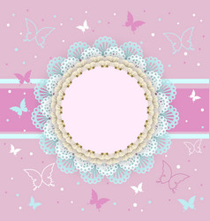 pretty pink card for girls vector image