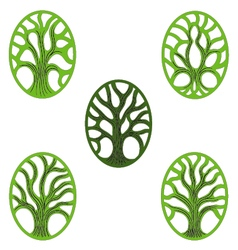 Tree of life green icon vector