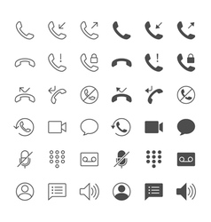 Telephone icons vector