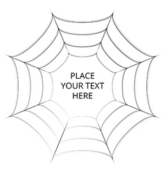 Frame of a spider web on white background vector