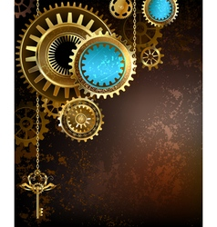 Gears on Rusty Background vector image