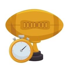 American football trophy award vector
