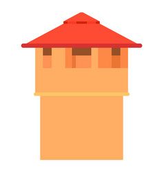ancient fort tower icon cartoon style vector image