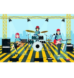 Band concert vector image