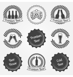 Beer labels and emblems vector