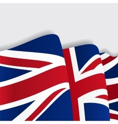 British waving flag vector
