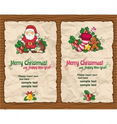 Christmas paper designs vector image