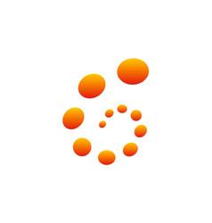 Circle dot abstract technology logo vector