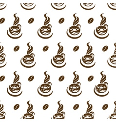 coffee cup pattern vector image vector image