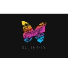 Colorful butterfly butterfly logo rainbow logo vector