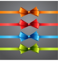 Colorful ribbons with bows vector image
