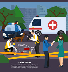 crime scene flat style vector image vector image