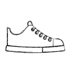 cute sketch draw shoe cartoon vector image
