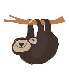 Cute sloth family vector