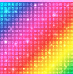 Glamour rainbow shining rounds background disco vector