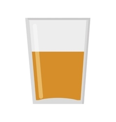glass with juice icon vector image
