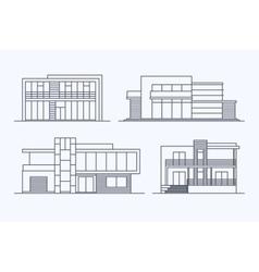 Houses linear 7 vector