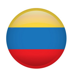 isolated flag of colombia vector image vector image