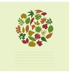 leaf vector image vector image