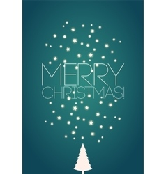 Merry Christmas Christmas card design vector image