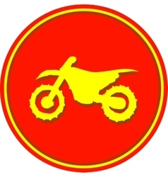 Motorcycle sport sign vector