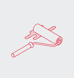 painting roller isometric icon vector image
