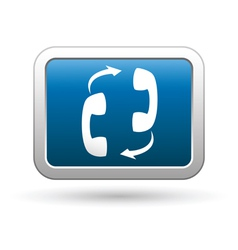 Phone connection icon on vector image