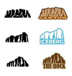 rock set vector image vector image
