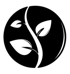 sprout icon simple black style vector image vector image