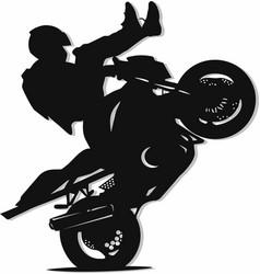 Stunt bike vector