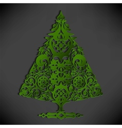Stylized paper Christmas tree vector image vector image