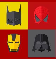 superhero mask on colored backgrounds vector image vector image