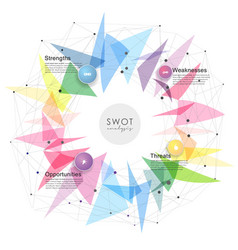Swot - strengths weaknesses opportunities vector