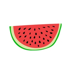 Watermelon slice cartoon style vector