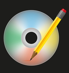 Burn cd vector