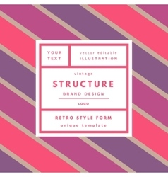 Retro label package template vector