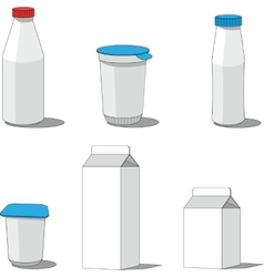 Milk packaging set 001 vector