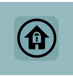 Pale blue locked house sign vector