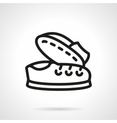 Simple line pair of sneakers icon vector