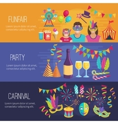 Carnival flat banners vector