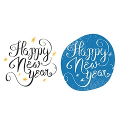 Happy new year 2016 handmade greeting card design vector