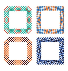 Frames set abstract squares vector