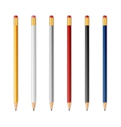 Wooden sharp pencils vector