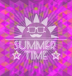 Abstract purple summer time infographic a big sun vector