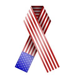 American Flag Ribbon vector image vector image